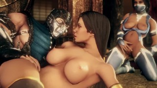 XXX Honey : Jade sub zero and Kitana in the Dojo kawaiidetectiveenthusiast